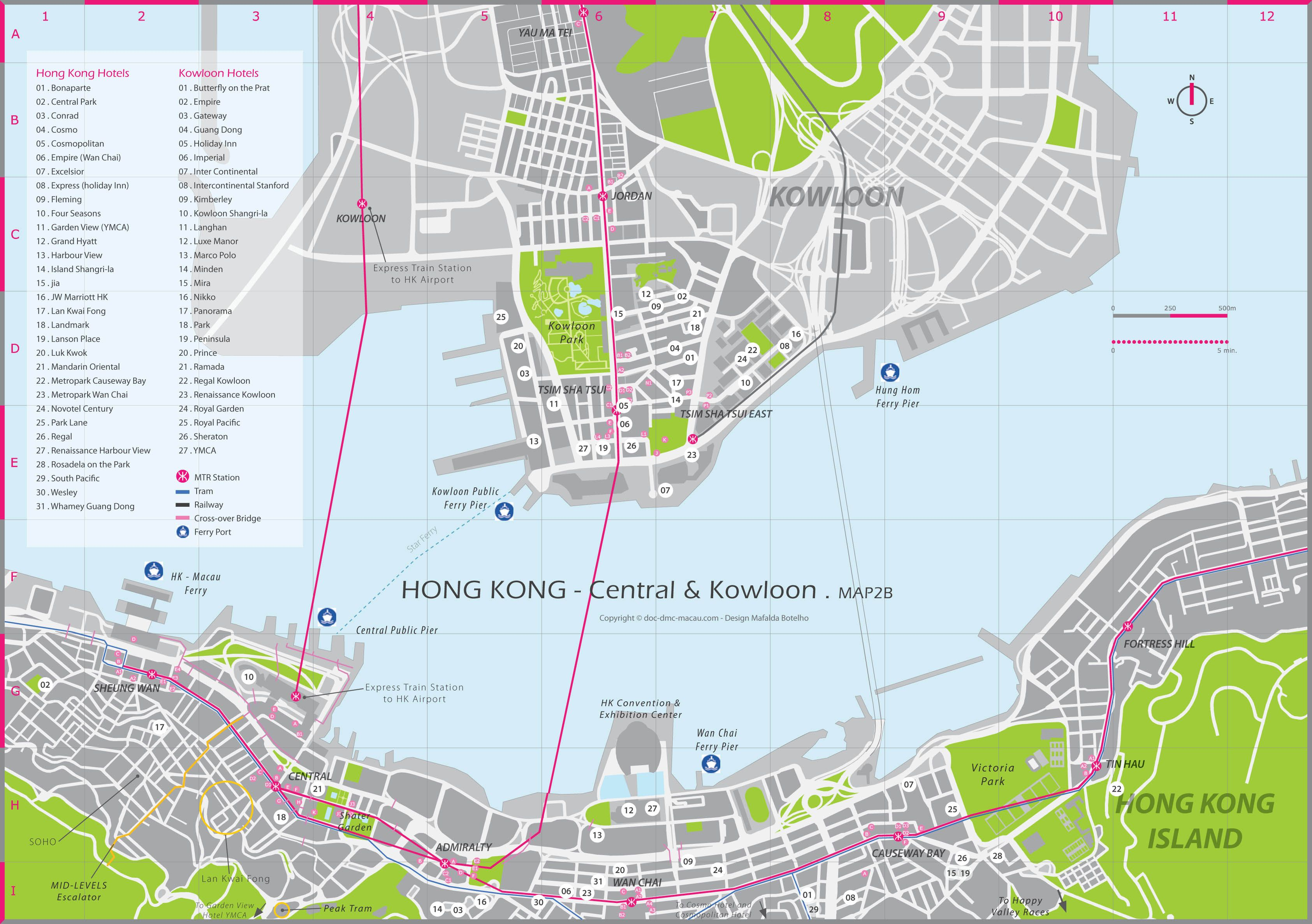 Hong Kong Kowloon City Center map