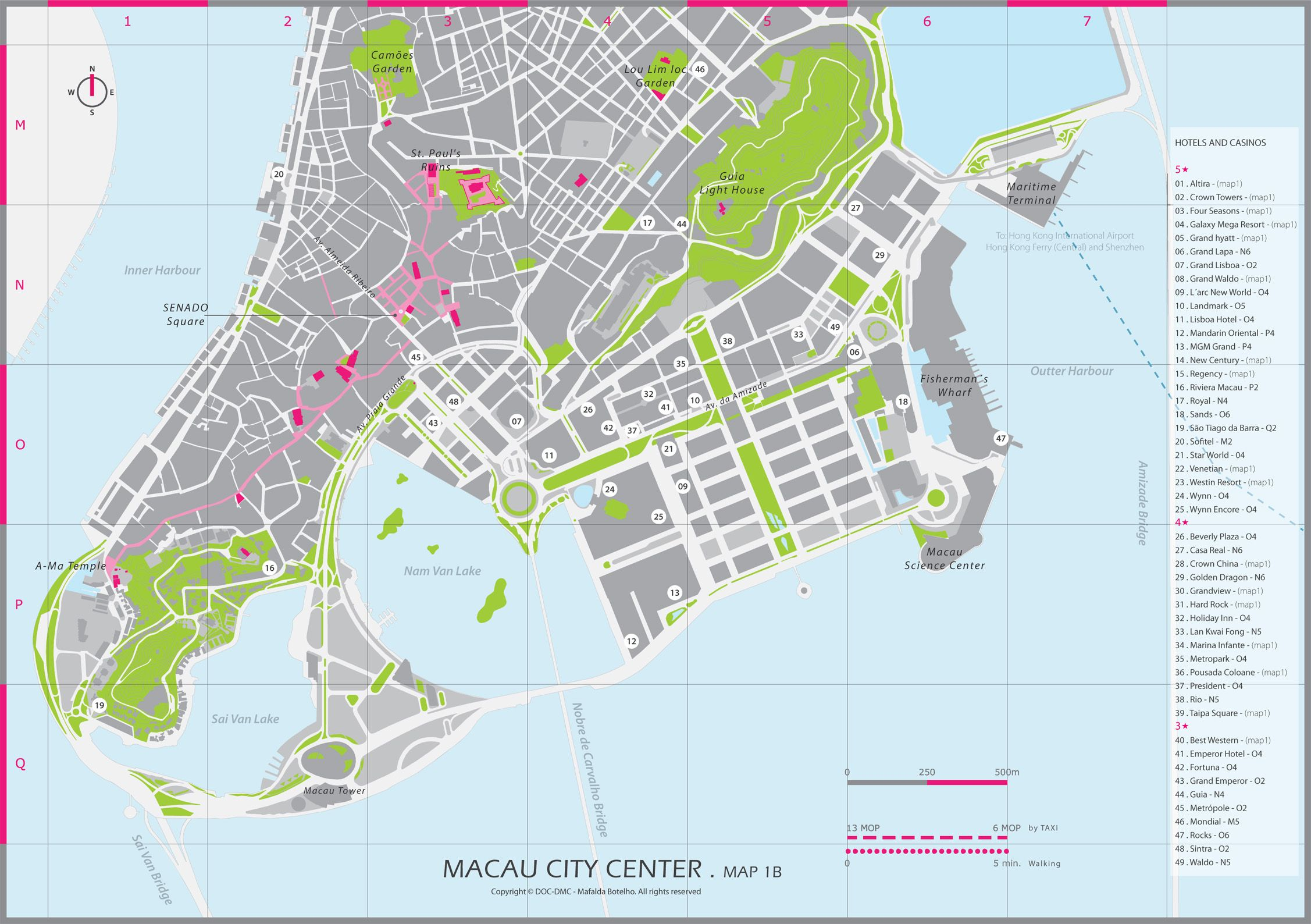 Macau City Center Map - Destination Management